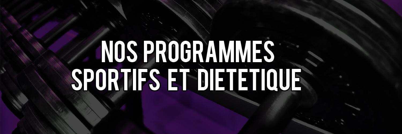 Bandeau programmes sportifs et diet